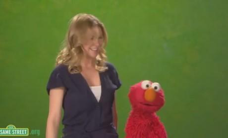 Ellen Pompeo Stops By Sesame Street