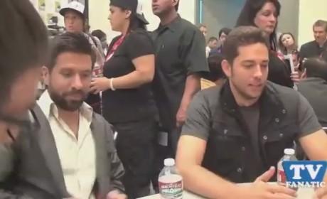 Zachary Levi and Joshua Gomez at Comic Con 2011