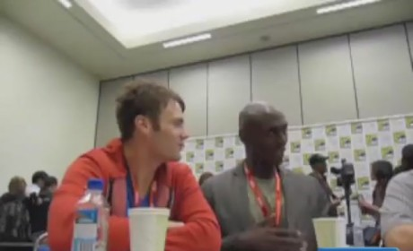 Seth Gabel and Lance Reddick at Comic Con