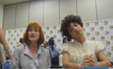 Blair Brown and Jasika Nicole at Comic Con