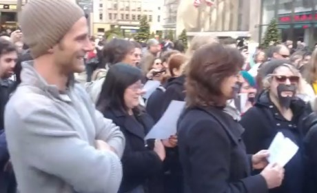 Video: Community Flash Mob Occupies NBC