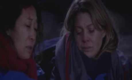 Grey's Anatomy Season Finale Clip - Meredith, Cristina and Derek