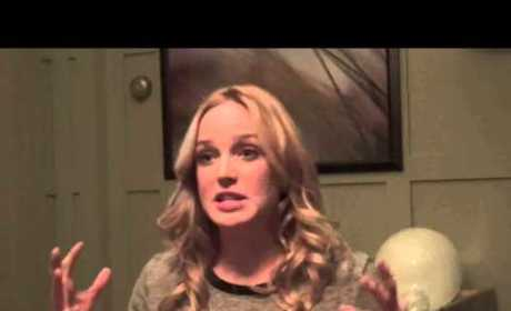 Caity Lotz Set Interview