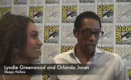 Lyndie Greenwood and Orlando Jones