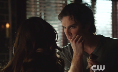 The Vampire Diaries Clip - More Delena Action!