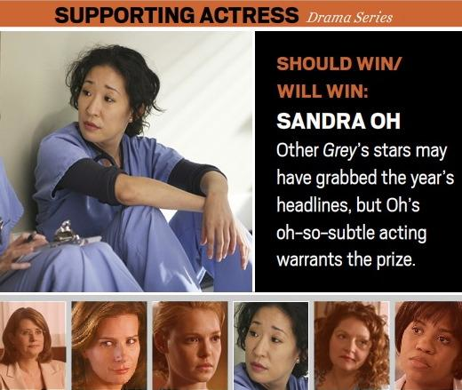 Sandra Oh: The Critics' Choice