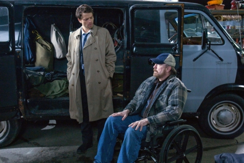 Castiel and Bobby