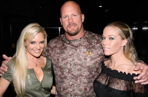 The Girls Next to Steve Austin