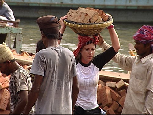 Claire Carries Bricks
