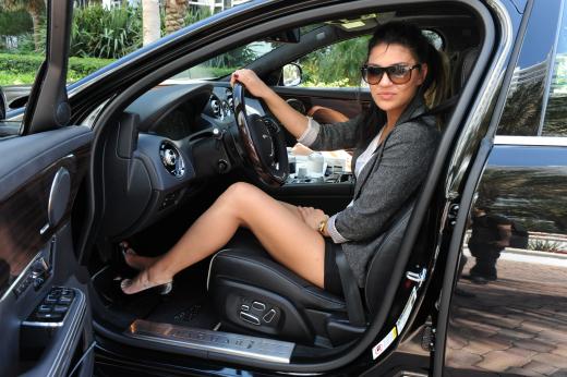 Jessica Szohr Drives a Jag