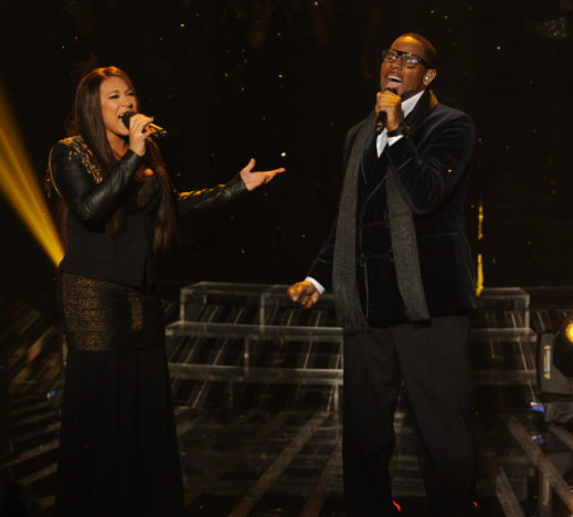 Melanie Amaro and R. Kelly