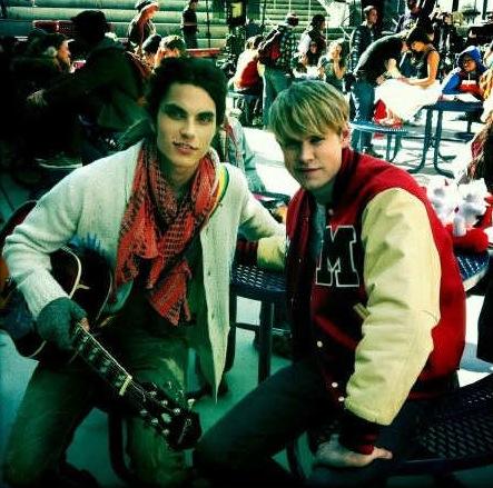 Samuel Larson on Glee Set