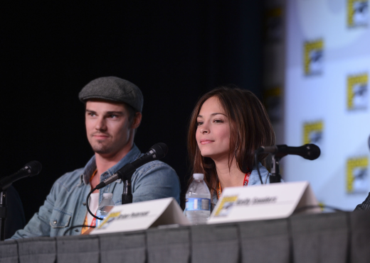 Kristin Kreuk and Ryan Jay at Comic-Con