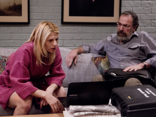 Carrie and Saul at Work