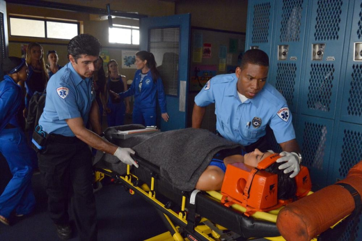 Emily on a Stretcher