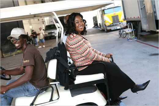 Shonda Rhimes on the Set