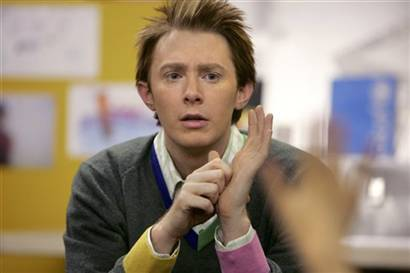 Clay Aiken in a Boston Elementary School
