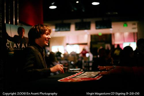 Clay Aiken at the Virgin Megastore Record Signing