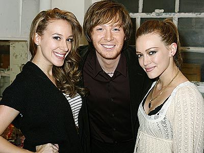 Clay Aiken, Hilary Duff and Haylie Duff