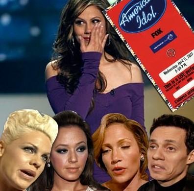Backstage at American Idol