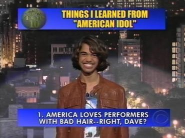 Sanjaya Malakar on Letterman