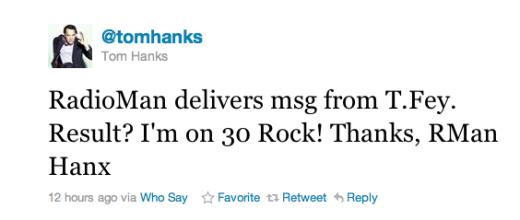 Tom Hanks Tweet
