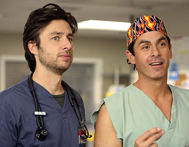 Zach Braff and Robert Maschio