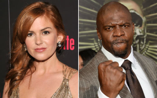 Isla Fisher and Terry Crews