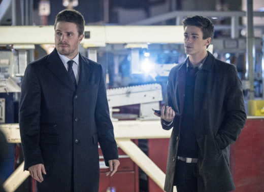 Oliver and Barry Allen