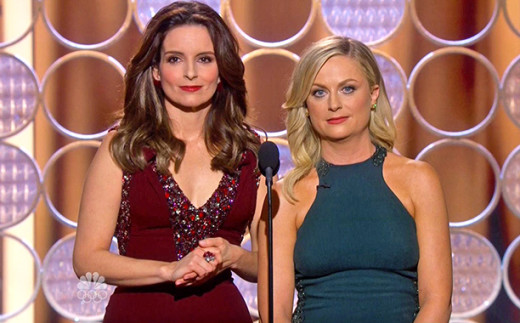 Tina Fey and Amy Poehler at the Golden Globes