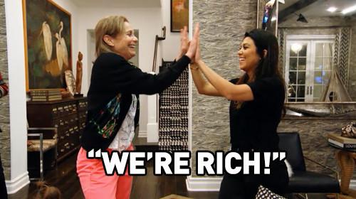 We're rich!