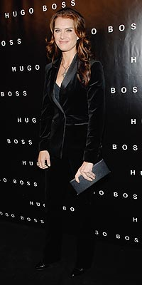 Brooke Shields at Huge Boss Opening