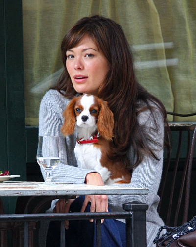Lindsay Price and Her Puppy