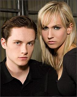 Jesse Soffer and Jennifer Landon
