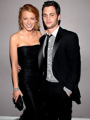 Blake Lively with Penn Badgley