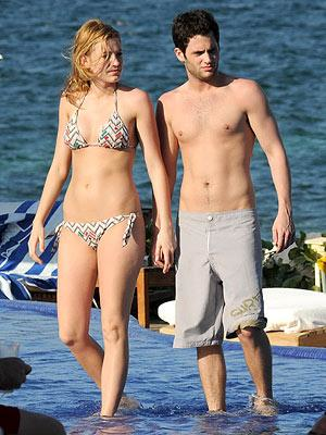Penn Badgley with Blake Lively