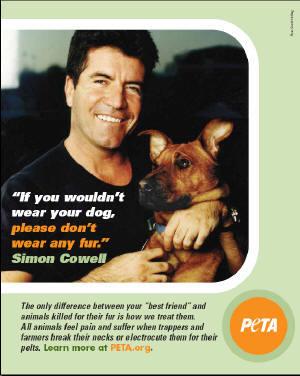Cowell and PETA