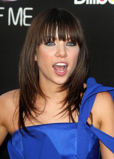 Carly Rae Jepsen in a Blue Dress