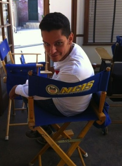 Rivas on NCIS Set